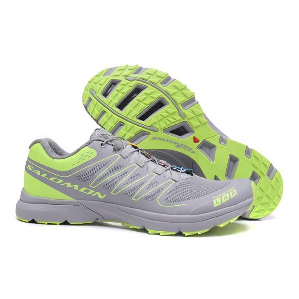 Salomon S-LAB Sense Speed Trail Running Shoes Gray Green,Salomon Ireland Online