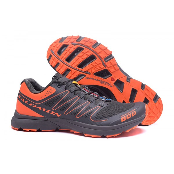 Salomon S-LAB Sense Speed Trail Running Shoes Gray Orange,Salomon USA Cheap Sale