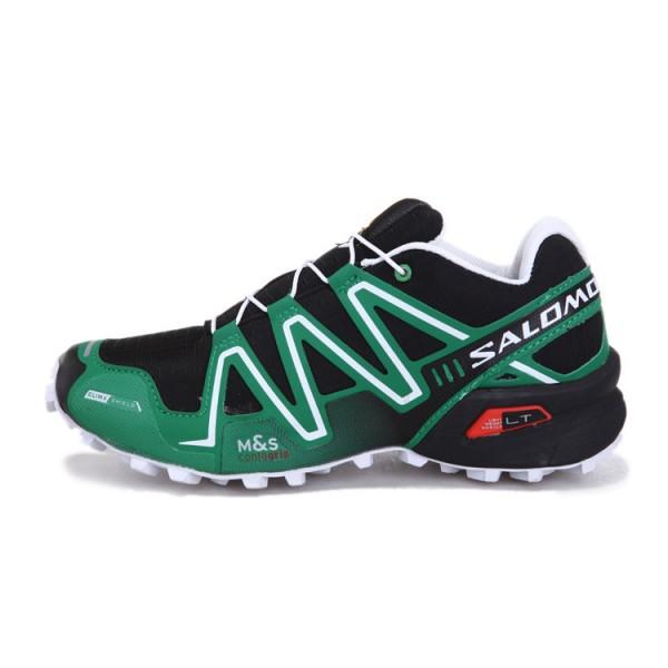Salomon Speedcross 3 CS Trail Running Shoes Black Green For Men