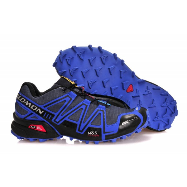 Salomon Speedcross 3 CS Trail Running Shoes Blue Grey For Men