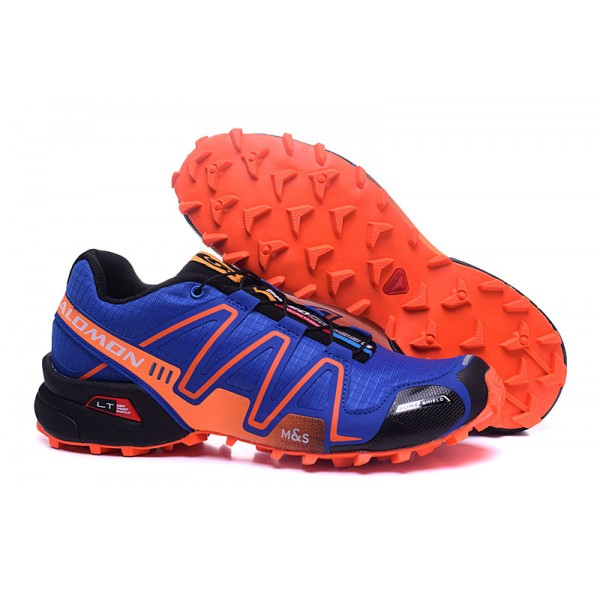 Salomon Speedcross 3 CS Trail Running Shoes Blue Orange For Men