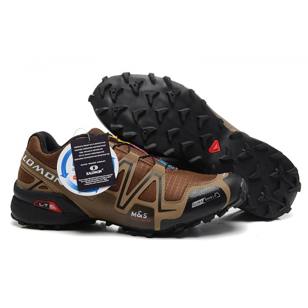 Salomon Speedcross 3 CS Trail Running Shoes Brown For Men