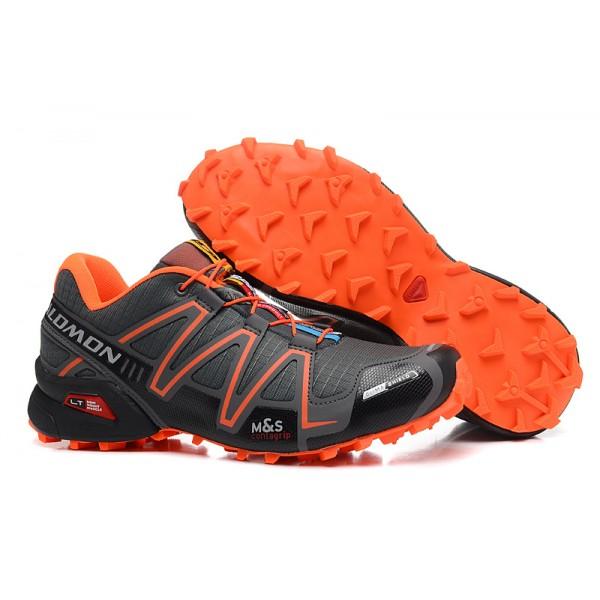 Salomon Speedcross 3 CS Trail Running Shoes Deep Gray Orange For Men