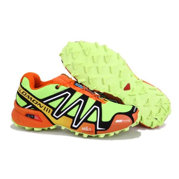 Salomon Speedcross 3 CS Trail Running Shoes Fluorescent Green Orange For Men