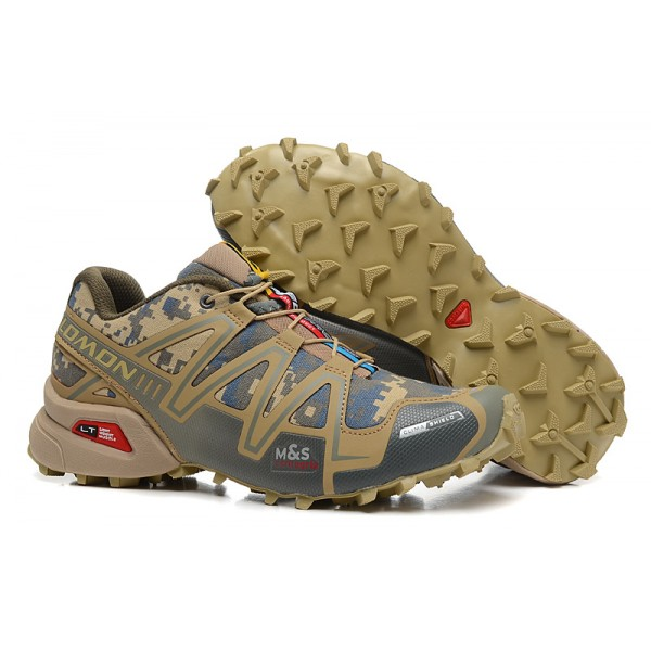 Salomon Speedcross 3 CS Trail Running Shoes Sand Camouflage For Men