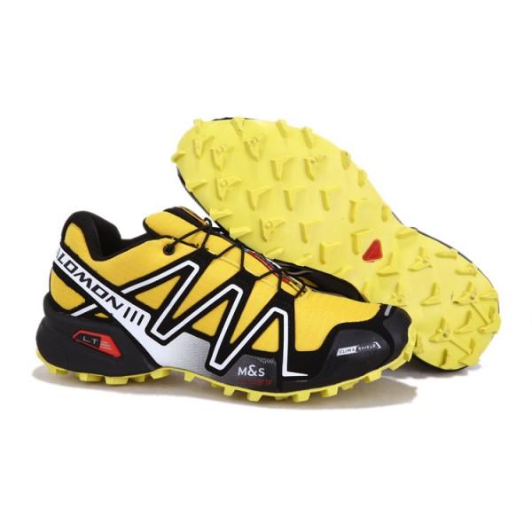 Salomon Speedcross 3 CS Trail Running Shoes Yellow Silver For Men