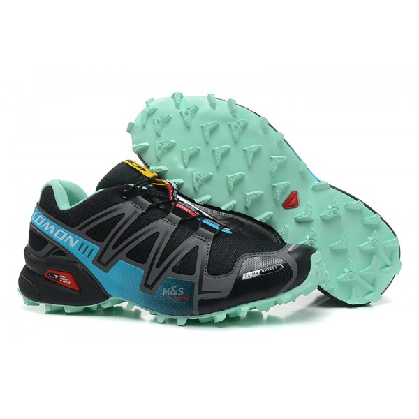 Salomon Speedcross 3 CS Trail Running Shoes Black Lake Blue For Women