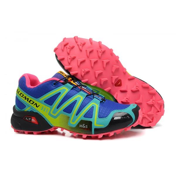 Salomon Speedcross 3 CS Trail Running Shoes Blue Green For Women