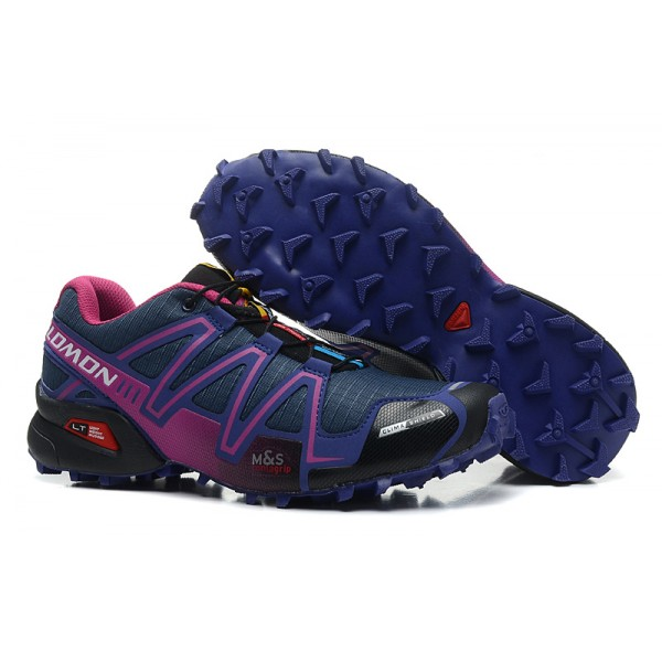 Salomon Speedcross 3 CS Trail Running Shoes Blue Purple For Women