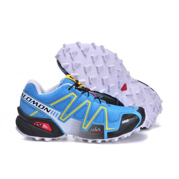 Salomon Speedcross 3 CS Trail Running Shoes Blue Yellow Black For Women