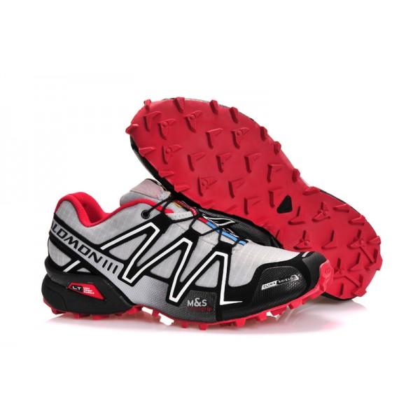 Salomon Speedcross 3 CS Trail Running Shoes Grey Black Red For Women