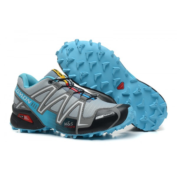 Salomon Speedcross 3 CS Trail Running Shoes Grey Lack Blue For Women