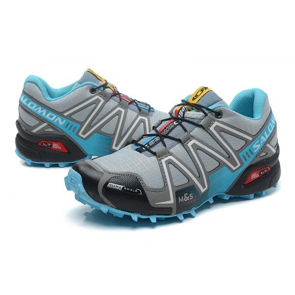 Reducción adverbio Salón  Salomon Speedcross Fabulous Collection,Salomon Speedcross 3 CS Trail  Running Shoes Grey Lack Blue For Women
