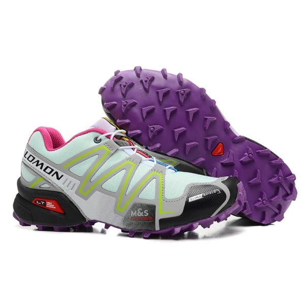 Salomon Speedcross 3 CS Trail Running Shoes Lake Blue Purple For Women