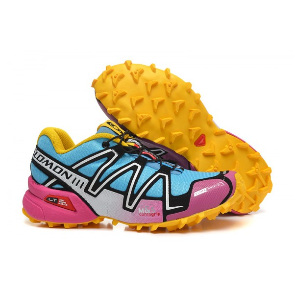 Salomon Speedcross 3 CS Trail Running Shoes Pink Yellow For Women