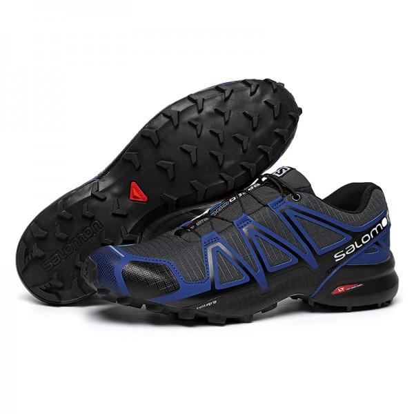 Salomon Speedcross 4 Trail Running Shoes Blue Black For Men