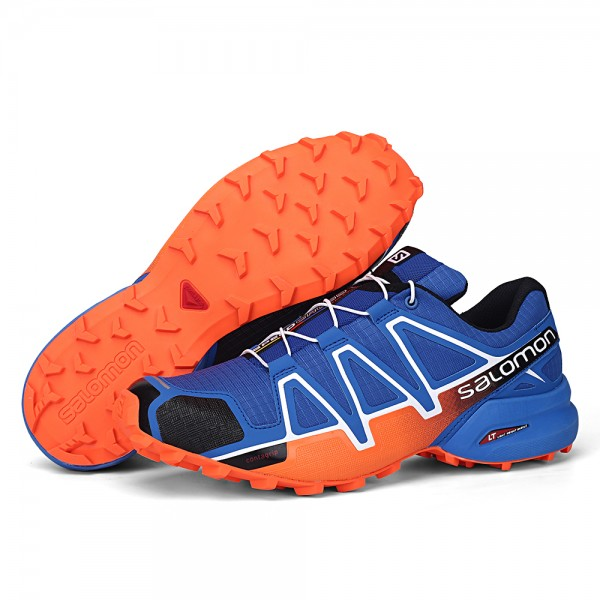 Salomon Speedcross 4 Trail Running Shoes Orange Blue For Men