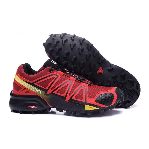 Salomon Speedcross 4 Trail Running Shoes Red Black For Men