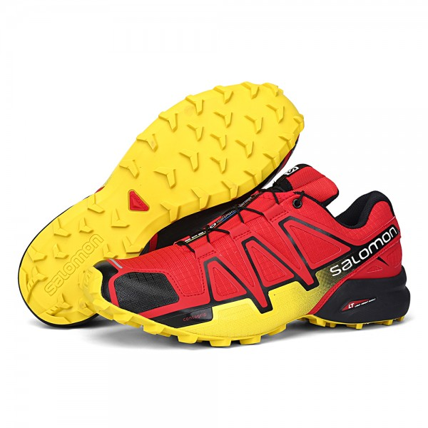 Salomon Speedcross 4 Trail Running Shoes Red Yellow For Men