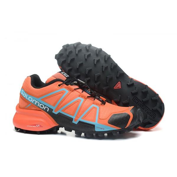 Salomon Speedcross 4 Trail Running Shoes Orange Black For Women