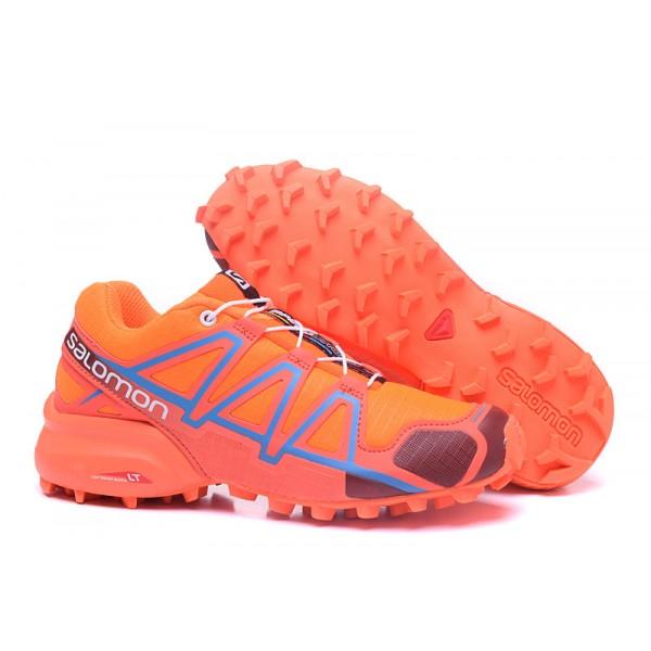 Salomon Speedcross 4 Trail Running Shoes Orange Wine For Women