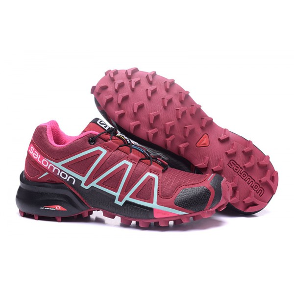 Salomon Speedcross 4 Trail Running Shoes Wine Black For Women