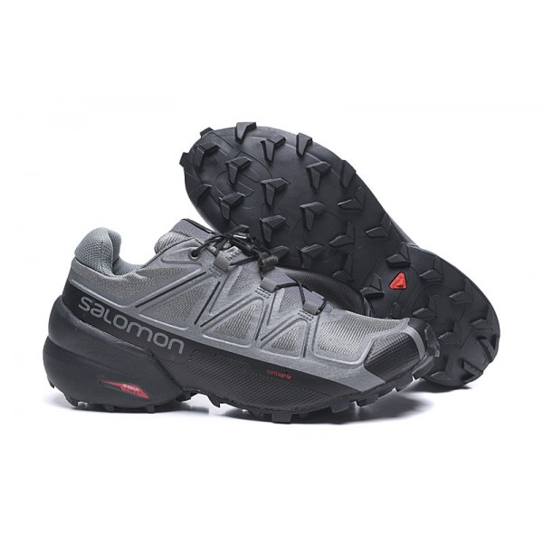 Salomon Speedcross 5 GTX Trail Running Shoes Gray Black,Shop Salomon Online UK