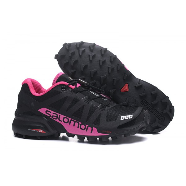 Salomon Speedcross Pro 2 Trail Running Shoes Black Rose Red For Women