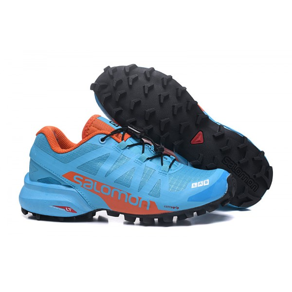 Salomon Speedcross Pro 2 Trail Running Shoes Lack Blue Orange For Women