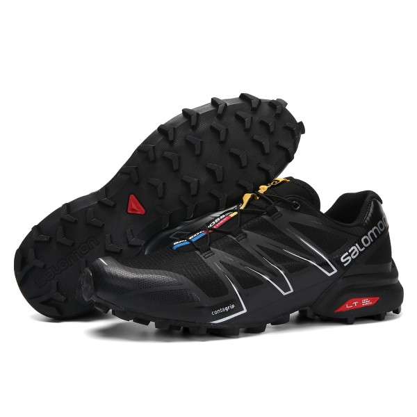 Salomon Speedcross Pro Contagrip Shoes Black Silver,Salomon Outlet Stores Online