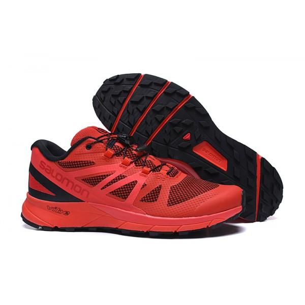Salomon Vibe Trail Runners Sense Ride Shoes Red Black,Best Cheap Salomon