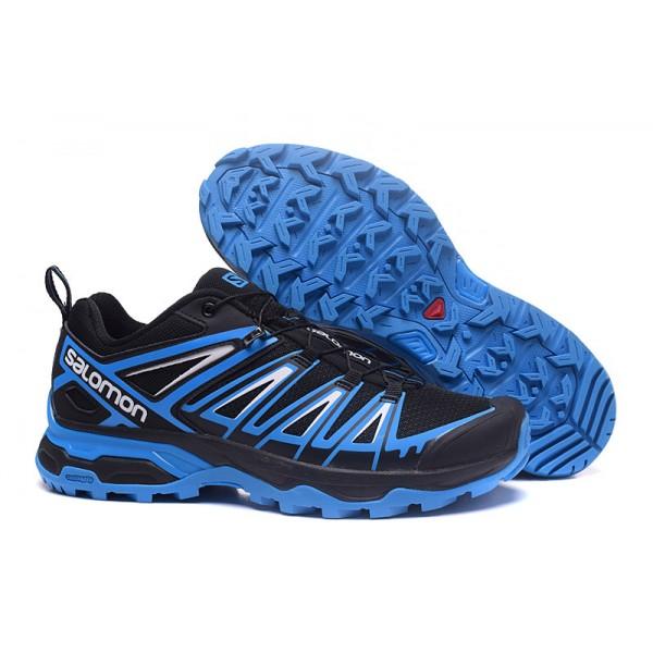 Salomon X ULTRA 3 GTX Waterproof Shoes Black Blue,Salomon Office Online