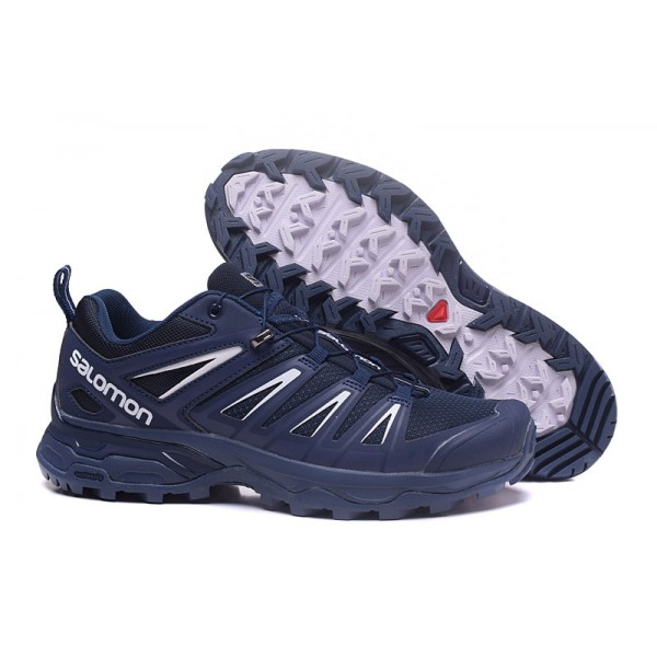 Salomon X ULTRA 3 GTX Waterproof Shoes Blue White,High Quality Salomon
